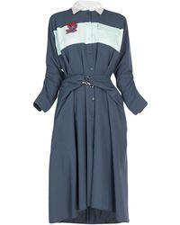 Carven 3/4 Length Dress - Green