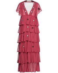 Shirtaporter Vestido largo - Rojo