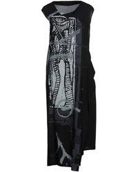 Yohji Yamamoto Robe longue - Noir