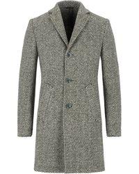 Grey Daniele Alessandrini Coat - Green