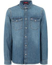 Tommy Hilfiger Denim Shirt - Blue