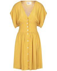 Leon & Harper Short Dress - Yellow