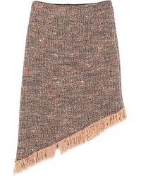 Ganni Midi Skirt - Natural