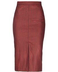 Caractere 3/4 Length Skirt - Red