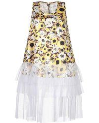 Richard Quinn Midi Dress - Yellow