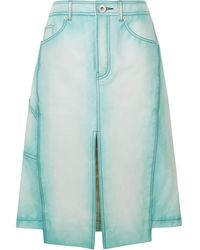 Lanvin Knee Length Skirt - Blue