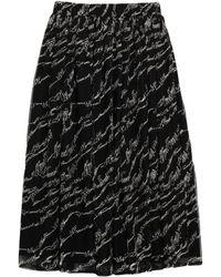 LE COEUR TWINSET Midi Skirt - Black