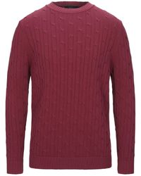Blue Les Copains Pullover - Rosso