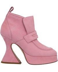 Sies Marjan Ankle Boots - Pink