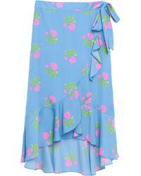 Essentiel Antwerp Falda cruzada con estampado floral - Azul