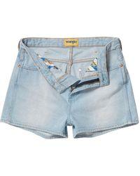 Wrangler - Denim Shorts - Lyst
