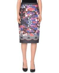 Piccione.piccione - Knee Length Skirts - Lyst