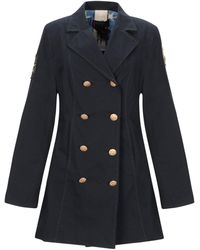 Femme By Michele Rossi Overcoat - Blue