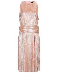 Trussardi Knielanges Kleid - Pink