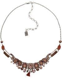 Ayala Bar Necklace - Pink
