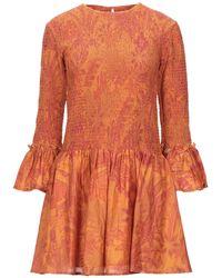 Chufy Short Dress - Orange