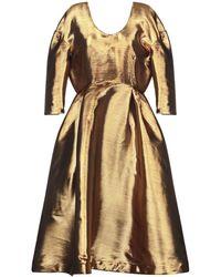 Tata Naka 3/4 Length Dress - Metallic