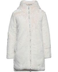 CafeNoir Teddy coat - Bianco