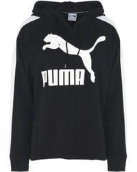 PUMA Kapuzenpullover mit Logo - Schwarz