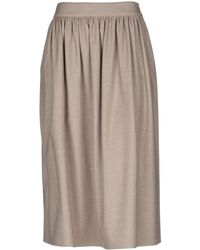 Cappellini By Peserico Midi Skirt - Natural