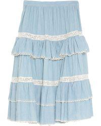 Manoush Midi Skirt - Blue