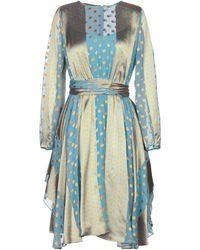 Diane von Furstenberg Vestito al ginocchio - Blu