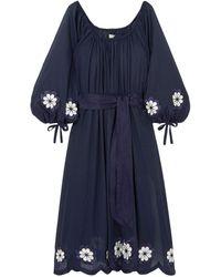 Innika Choo Vestido a media pierna - Azul