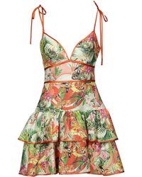 Piccione.piccione Short Dress - Orange