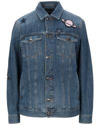 Emporio Armani Manteau en jean - Bleu