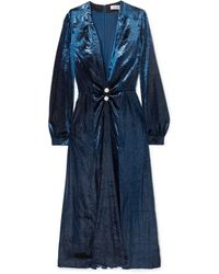 Raquel Diniz Long Dress - Blue