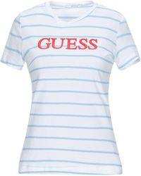 Guess Stripe T Shirt - White