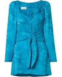 Art Dealer Short Dress - Blue