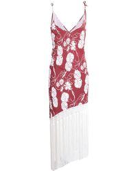 Athena Procopiou Long Dress - Red