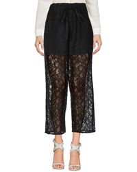 MM6 by Maison Martin Margiela Casual Trousers - Black