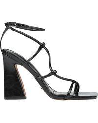 TOPSHOP Toe Post Sandals - Black