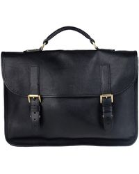 3cd0f7b90ed7 Lyst - Mulberry Black Grained Leather Satchel Briefcase in Black for Men
