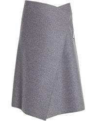 Celine 3/4 Length Skirt - Grey