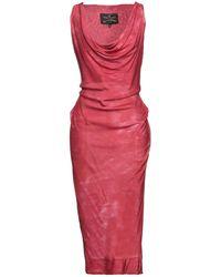 Vivienne Westwood Anglomania Midi-Kleid - Rot