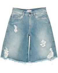 Palm Angels Jeansbermudashorts - Blau