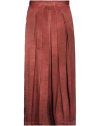 Masnada Midi Skirt - Red