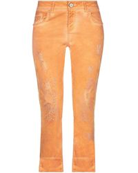 ELISA CAVALETTI by DANIELA DALLAVALLE Denim Trousers - Orange