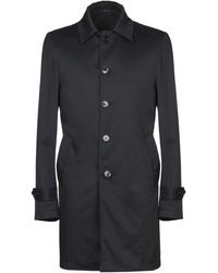 Grey Daniele Alessandrini Overcoat - Black