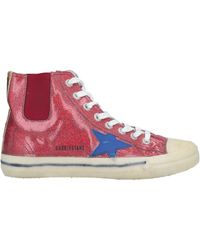 Golden Goose Deluxe Brand Sneakers abotinadas - Rojo