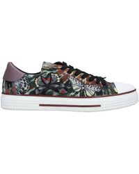Valentino Butterfly Embroidered Canvas Low-top Trainers - Multicolour