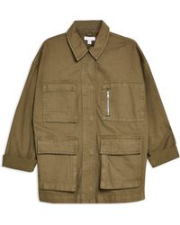 TOPSHOP Denim Outerwear - Green