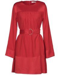 Suoli Short Dress - Red