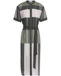 Equipment 3/4 Length Dress - Green