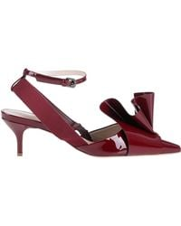 Delpozo Court Shoes - Red