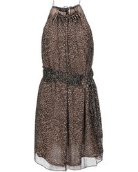 Marciano Short Dress - Brown