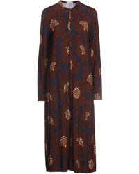 Siyu Midi Dress - Brown